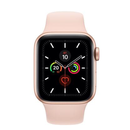 Apple Watch Series 5 (GPS) Корпус из алюминия золотого цвета • Спортивный ремешок - 40 мм
