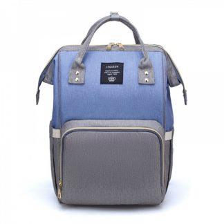Cумка - рюкзак для мамы Lequeen Dual Голубой