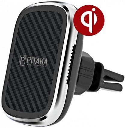 Автомобильный держатель Pitaka MagMount Qi Car Vent для решетки