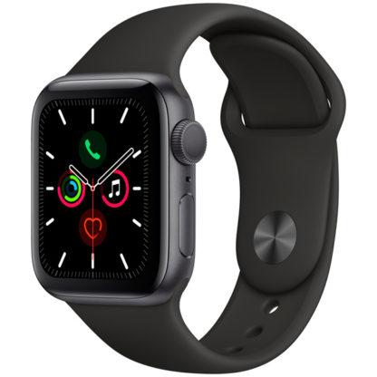 Apple Watch Series 5, 40 мм, корпус из алюминия цвета «серый космос», спортивный ремешок
