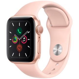 Apple Watch Series 5, 40 мм, корпус из алюминия золотого цвета, спортивный ремешок