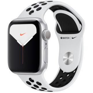 Apple Watch Nike Series 5, 40 мм, корпус из алюминия серебристого цвета, спортивный ремешок Nike