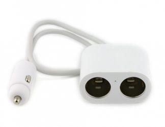 Разветвитель прикуривателя автомобильный Xiaomi Roidmi 2S Splitter 1 to 2 Charging Port  Белый