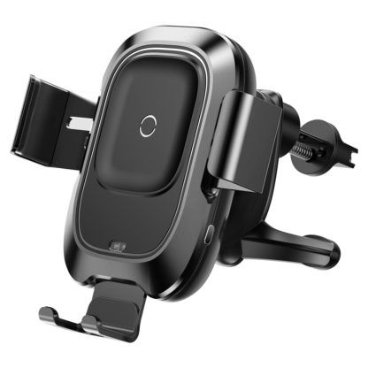 Автомобильный держатель для телефона в дефлектор с беспроводной быстрой зарядкой Baseus Smart Vehicle Bracket Wireless Charger