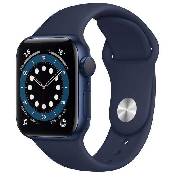 Умные часы Apple Watch Series 6 GPS 40mm Aluminum Case with Sport Band Цвет товара: Синий/темный ультрамарин