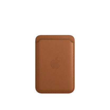 Кожаный чехол-бумажник MagSafe для iPhone, золотисто-коричневый цвет