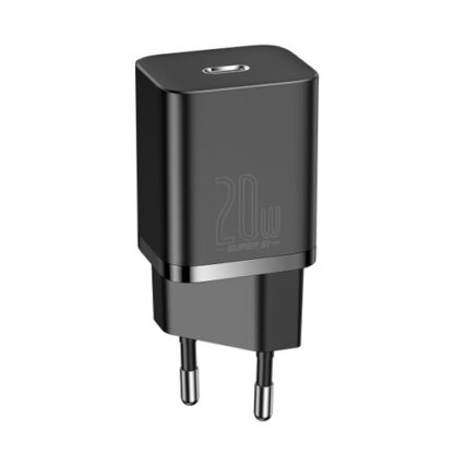 Сетевое зарядное устройство Baseus Super Si Quick Charger 1C 20W EU Black