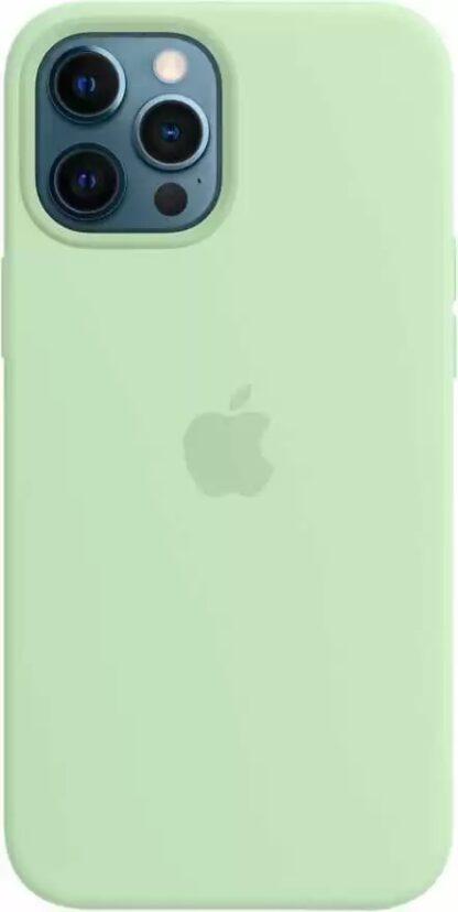 Силиконовый чехол для iPhone 12 Pro Max Светло-зеленый