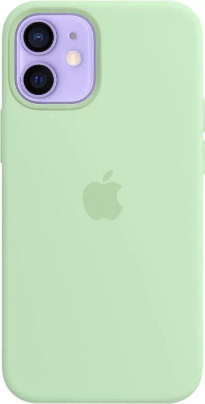 Силиконовый чехол для iPhone 12 mini Светло-зеленый