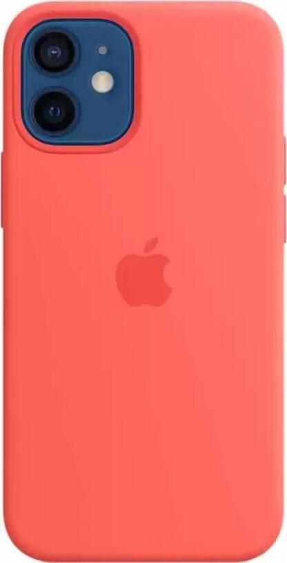 Силиконовый чехол для iPhone 12 mini Розовый-цитрус