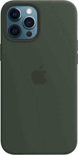 Силиконовый чехол для iPhone 12 Pro Max Темно-зеленый