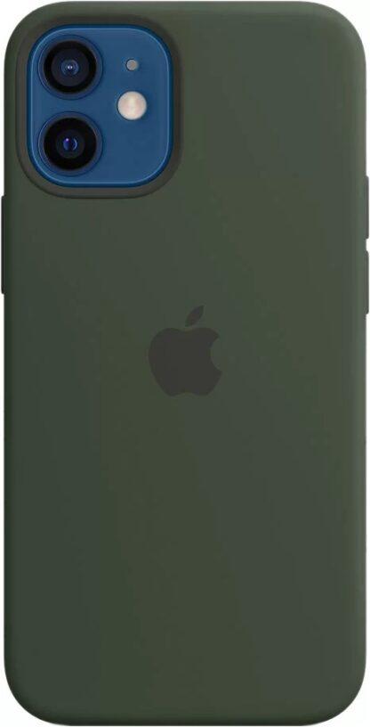 Силиконовый чехол для iPhone 12 mini Темно-зеленый