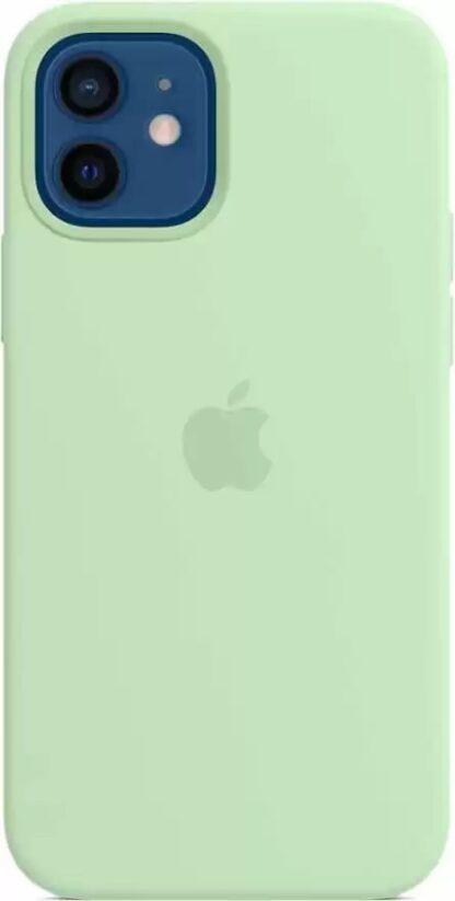 Силиконовый чехол для iPhone 12/12 Pro Светло-зеленый